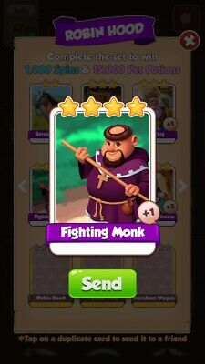 coin master Fighting Monk Card