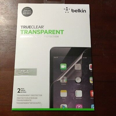 Belkin Trueclear Transparent Advanced Screen Protection iPad Mini 2 3 Protector