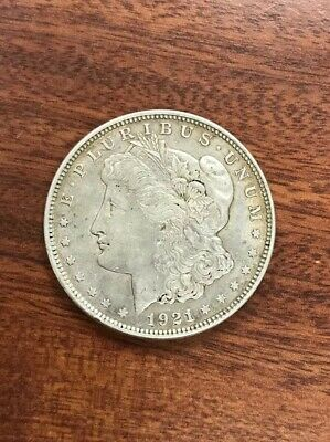 1921 Morgan Silver Dollar - Last Year Issue 90% Silver. NO RESERVE AUCTION