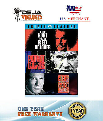 Jack Ryan 3 Pack The Hunt for Red October Patriot Games Clear and Present Danger