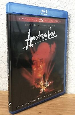 APOCALYPSE NOW (Blu-Ray, 2010) 2-DISC SPECIAL EDITION INCLUDES REDUX REGION FREE