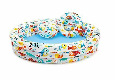 Baby Toddler Paddling Pool 3 Ring Small 51cm Child Mini Inflatable