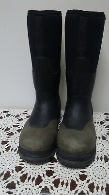 bc77a0e6d93 Bogs Neoprene Insulated Rancher Forge Steel Toe Waterproof Boots 69172 Mens  9