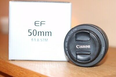 Canon EF 50mm f/1.8 STM Lens with Original Box