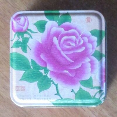 Empty Square Moon Cake Tins Set of 2 Collectable