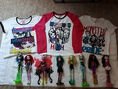 Monster High Items-Dolls.dvd, Bag, Wig,& Clothes