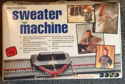 Bond INCREDIBLE SWEATER MACHINE knitting machine & ULTIMATE pieces