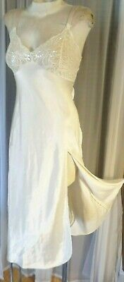 Vintage Long Nightgown Ivory Victoria Secret Gown Lady Petite P Cream Small Woma