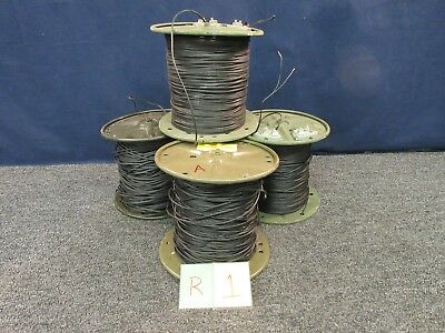 2000' 4 Spools Military Surplus 2 Conductor Telephone Wire Cable WD1A-.5 Used A