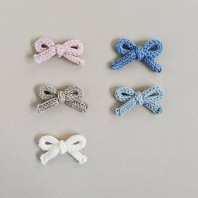 Handmade Knitted Baby Headbands Girls Clip Newborn Bow Infant Toddler Gift