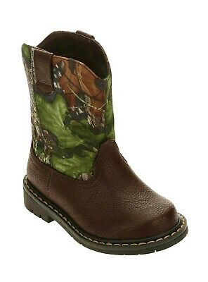 Mossy Oak Toddler Boys/Girls Camo Cowboy Casual Boots Shoes: All Sizes 7-11