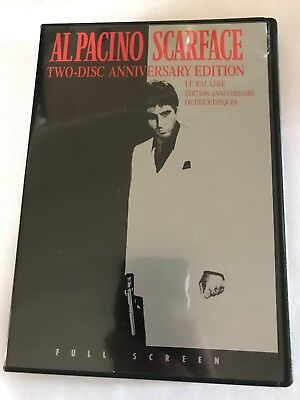 AL PACINO SCARFACE 2 Disc Anniversary Edition Dvd 2003 Canadian Full Frame