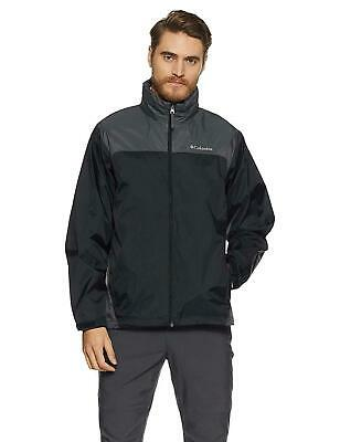 Columbia Men's Glennaker Lake Packable Rain Jacket,Black/Grill choose size