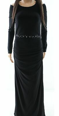 36a136357d43 Laundry by Shelli Segal NEW Black Womens 4 Cold-Shoulder Gown Dress $295-  814