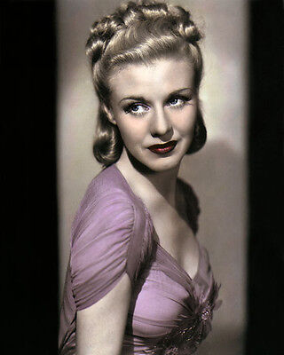 """GINGER ROGERS STAGE DOOR 1937 HOLLYWOOD ACTRESS 8x10"""" HAND COLOR TINTED PHOTO"""