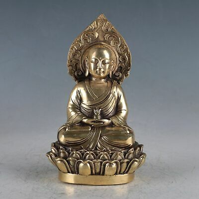 Chinese  Brass  Buddha Statue Made During The Da Ming Xuande HT0027