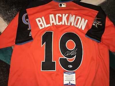 12b27fa3a Charlie Blackmon Signed 2017 All Star Jersey Colorado Rockies Superstar  Beckett