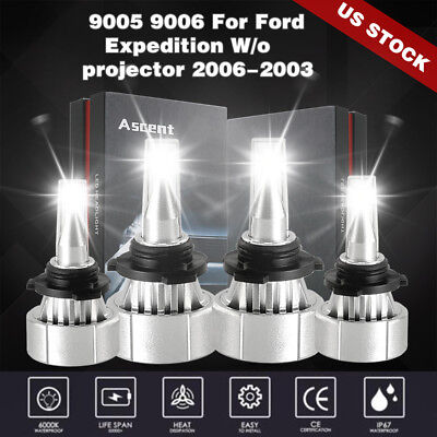 9005 9006 LED Headlight Kit Bulb 28880LM For Ford Expedition
