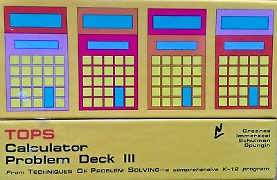 TOPS CALCULATOR PROBLEM Deck III by Dale Seymour