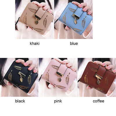 Women Girl Small Wallet For Card Holder Zip Coin Purse Clutch Handbag Gift