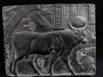 EGYPTIAN ANTIQUE ANTIQUITIES The Buchis Cult Stela Stele Relief 332-30 BC