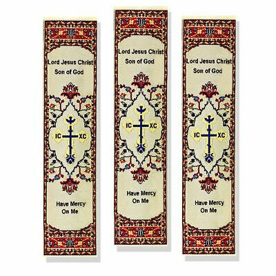 """ Lord Jesus Christus Sohn Gott Have Mercy On Me "" 3er Satz Buch Marker Textil"