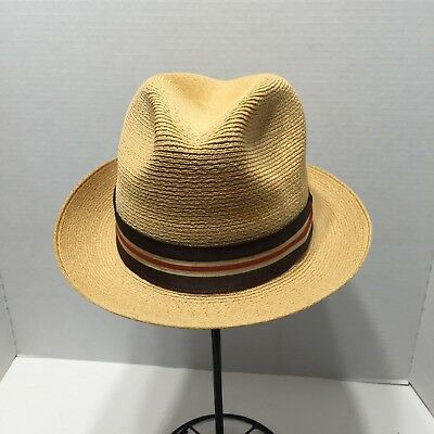 3e279e50a5102 Vintage Men s Hat Dobbs Straw Fedora Driftwood Band Size 6 7 8 Fifth Avenue  NY