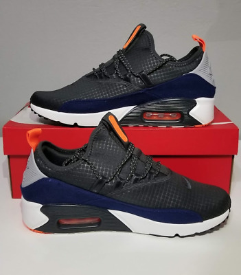 best website 21124 7522a NEW NIKE AIR Max 90 EZ Grey Orange Navy AO1745-007 Men Size 9 & 13