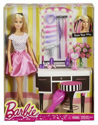 Barbie Beautiful Fashion Doll With Playset Accessories Toy For Kids MultiColor