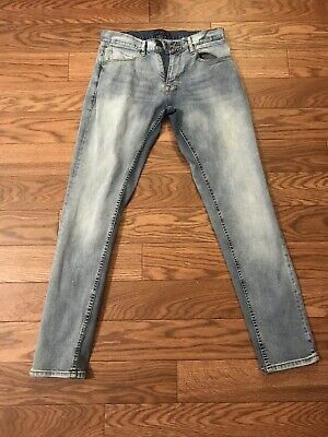 9e126782 ZARA MAN Blue Pants Denim Jeans Size 32x 30 Skinny Light Wash ZMDC  Collection