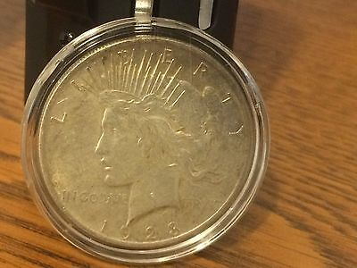 1923 90% Silver US Peace Dollar coin AU about uncirculated unc $1 S$1 air-tite B