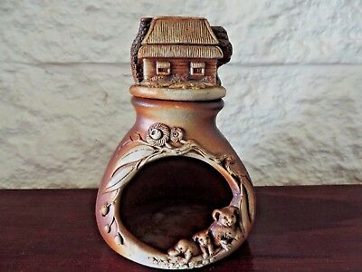 Swagman Pottery Oil Burner Gorgeous Koala & Platypus, Cute House Water Well ExC