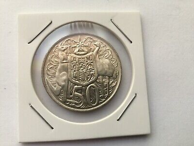 1966 Australian Round Fifty Cent Coin 50c Silver UNCIRCULATED