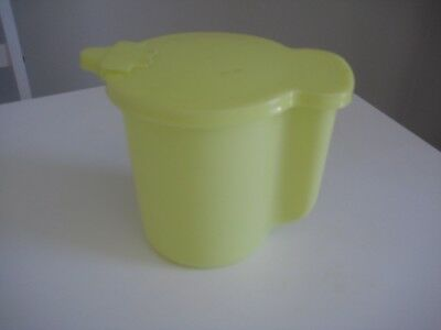 Vintage Tupperware Large Milk Jug -Yellow in perfect condition - Flip top seal