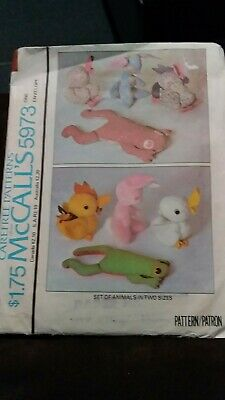 Set Of CUTE Stuffed ANIMALS in 2 Sizes..