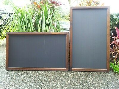 Timber Chalkboard Blackboard Menu Board for Businesses Weddings Walls or Easels