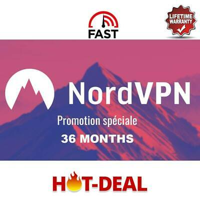 NordVPN Premium 36 Month subscription,lifetime warranty Replacement Fast support