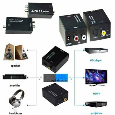 Digital to Analogue Audio Converter Coaxial Coax Optical Toslink RCA L/R New