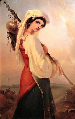 LMOP857 beautiful girl portrait painted hand wall art oil painting on canvas