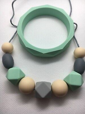 Silicone was teething) Necklace Beads Jewellery Aus Gift With Bracelet present
