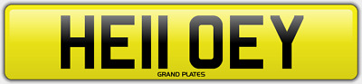 EY INITIALS number plate Hello CHERISHED REGISTRATION NO ADDED FEES HE11 OEY REG