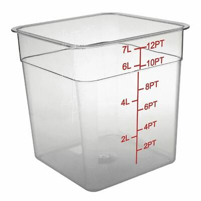 Vogue Storage Container Square in Polycarbonate - Break Resistant - 7 Ltr