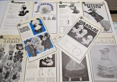Zims Vintage Craft Sewing Project Patterns & Instructions Lot of 12 1970s & 80s
