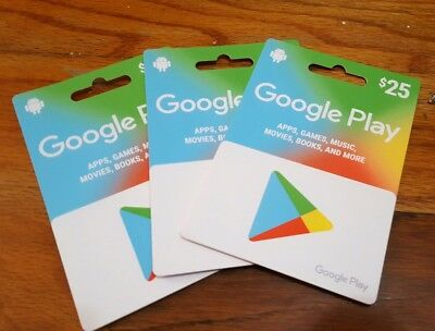 Google Play Gift Card $25 - Mail delivery