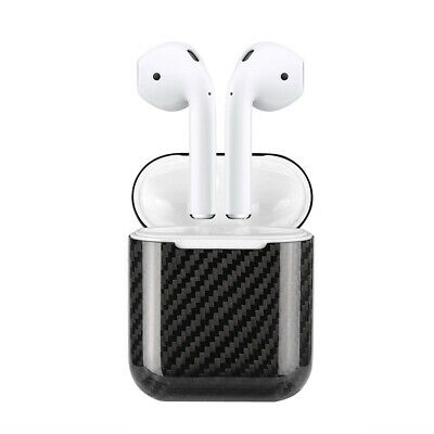 Real Gloss Carbon Fibre 3K Twill Apple AirPods 1 & 2 Slim Protective Cover Case
