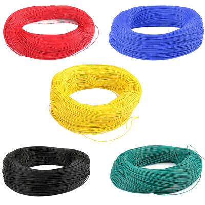5x 20AWG Equipment Automotive Stranded Wire Cable Cord Hook-up Testing Strip