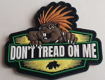 """Rubber Patch """"DON'T TREAD ON ME"""" Schweizer Version"""