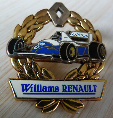Rare Pin's F1 Formula One Williams Renault Rothmans Lauriers Zamac 2D