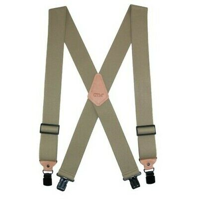 New CTM Men's Heavy Duty Clip-End Work Suspenders