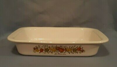 VINTAGE Corning Ware Spice of Life A21 Large Open Roaster/Lasagna 12X10X2 VGC